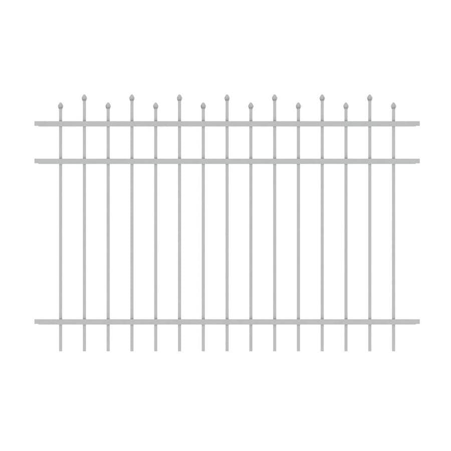 Ironcraft (Common: 4-ft x 6-ft; Actual: 4-ft x 6-ft) Truro White Powder-Coated Aluminum Decorative Fence Panel