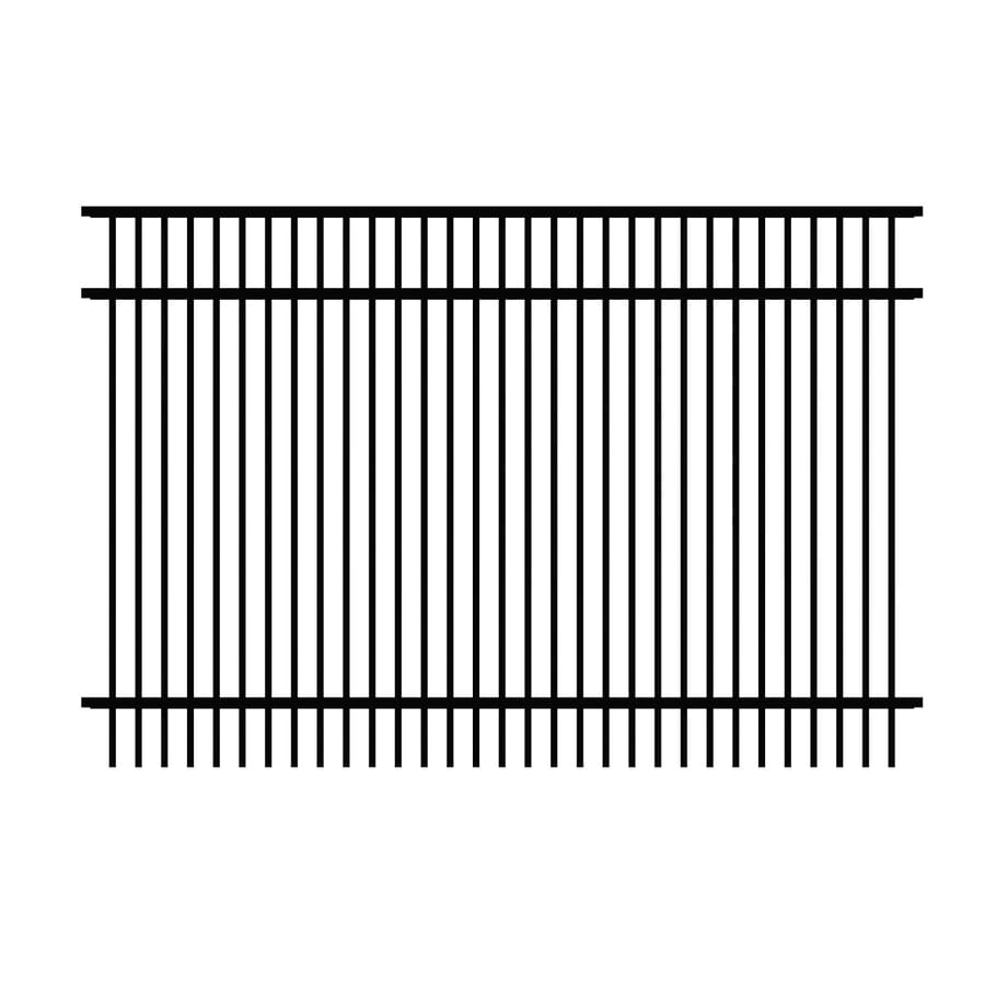 Ironcraft (Actual: 4-ft x 6-ft) Cheshire Black Powder-Coated Aluminum Decorative Fence Panel