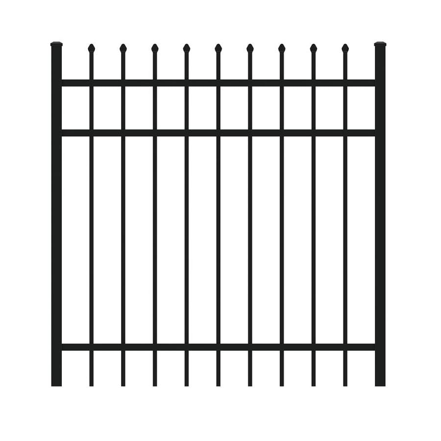 Ironcraft 4ftH x 4ftW Gate with Latch, Hinges, Screws Orleans Black