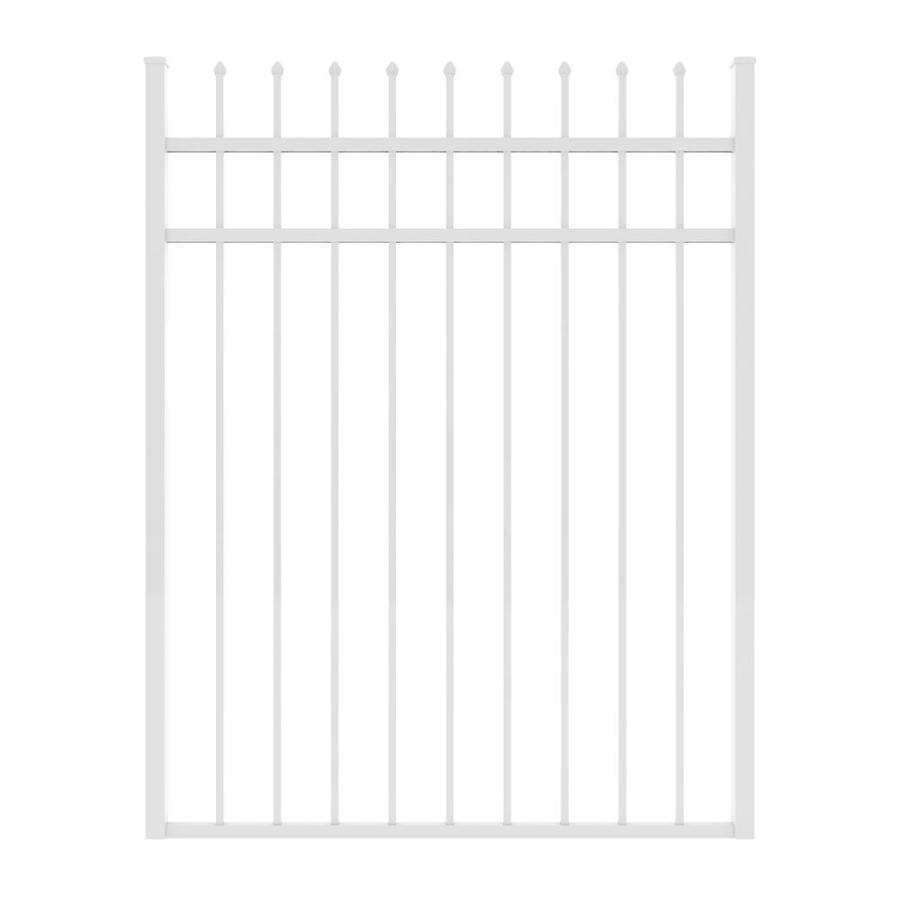 Ironcraft (Common: 5-ft x 4-ft; Actual: 5-ft x 3.92-ft) White Powder-Coated Aluminum Decorative Fence Gate