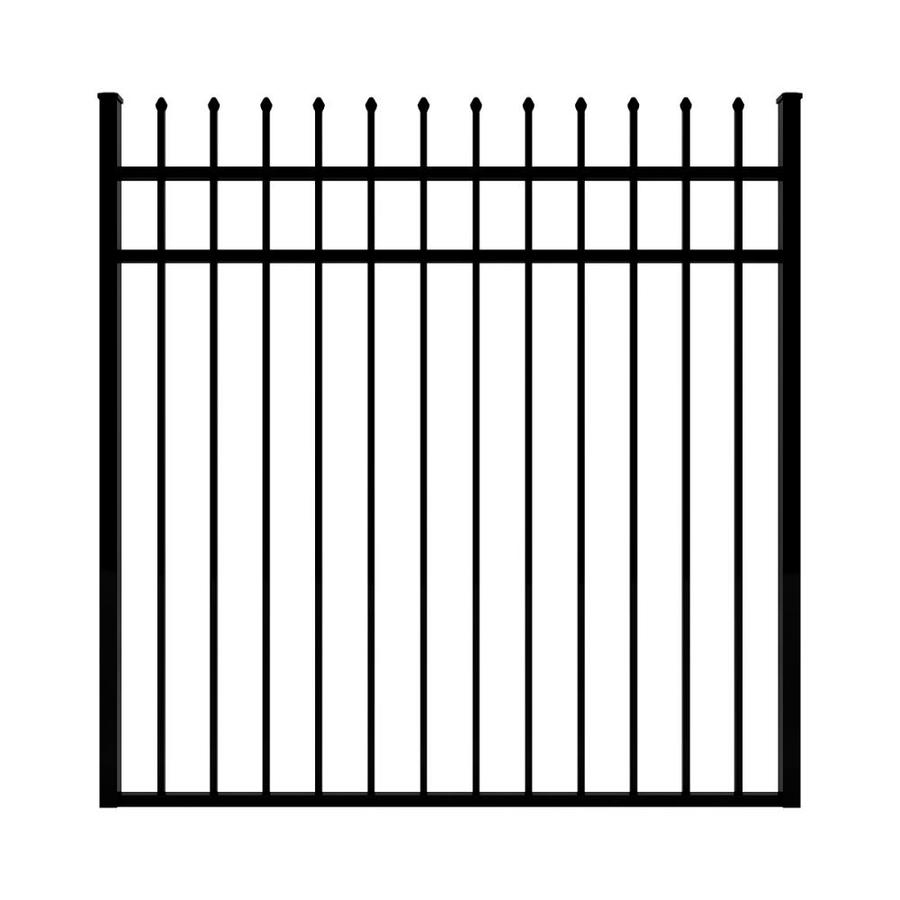 Ironcraft (Common: 5-ft x 5-ft; Actual: 5-ft x 4.92-ft) Black Powder-Coated Aluminum Decorative Fence Gate