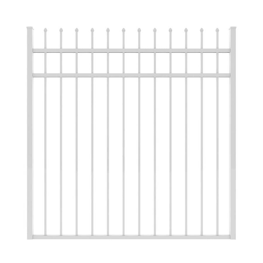 Ironcraft (Common: 5-ft x 5-ft; Actual: 5-ft x 4.92-ft) White Powder-Coated Aluminum Decorative Fence Gate