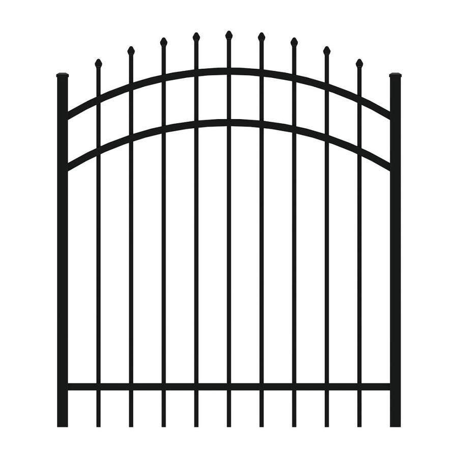 Ironcraft (Common: 4-ft x 4-ft; Actual: 4-ft x 3.92-ft) Black Powder-Coated Aluminum Decorative Fence Gate