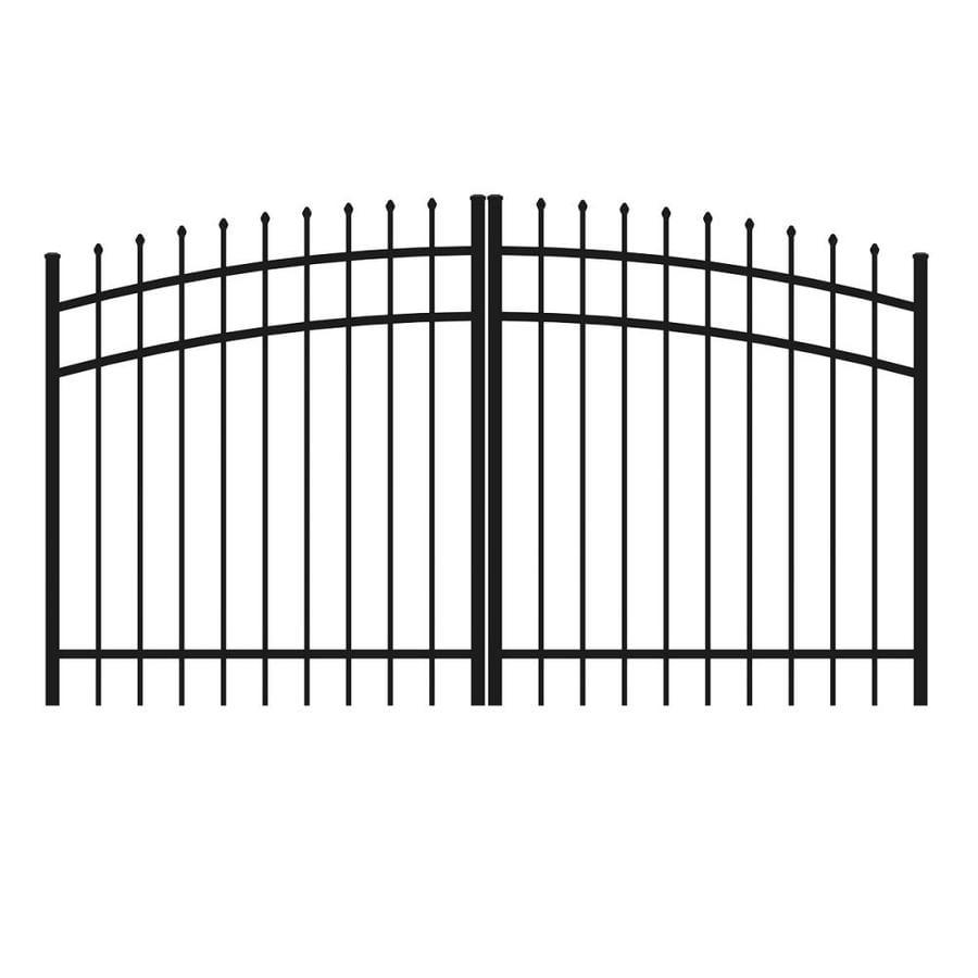 Ironcraft Black Powder-Coated Aluminum Decorative Fence Gate (Common: 4-ft x 8-ft; Actual: 4-ft x 7.83-ft)