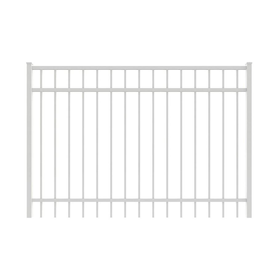 Ironcraft (Common: 4-ft x 6-ft; Actual: 4-ft x 5.92-ft) White Powder-Coated Aluminum Decorative Fence Gate