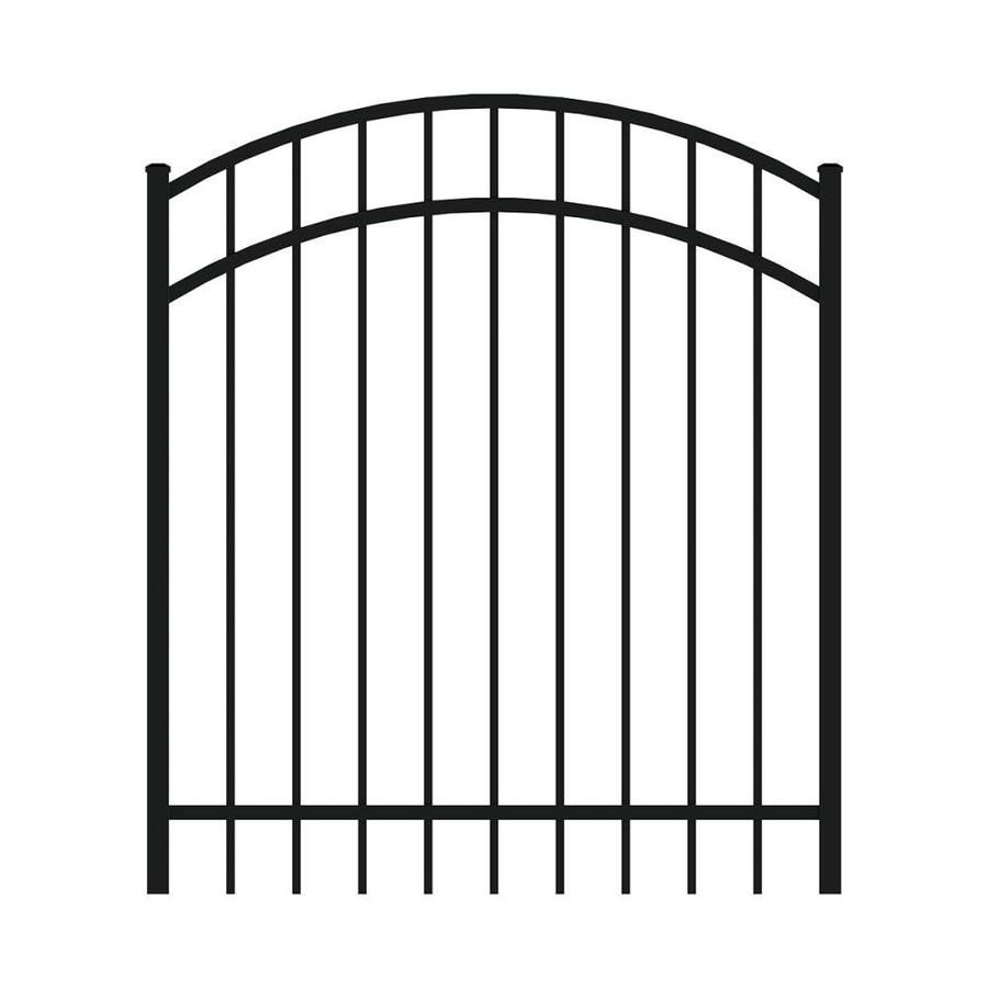 Ironcraft 4ftH x 4ftW Arched Gate with Latch, Hinges, Screws Berkshire Black