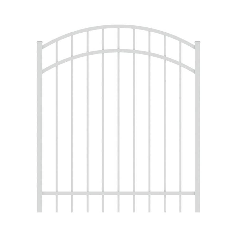 Ironcraft White Powder-Coated Aluminum Decorative Fence Gate (Common: 4-ft x 4-ft; Actual: 4-ft x 3.92-ft)
