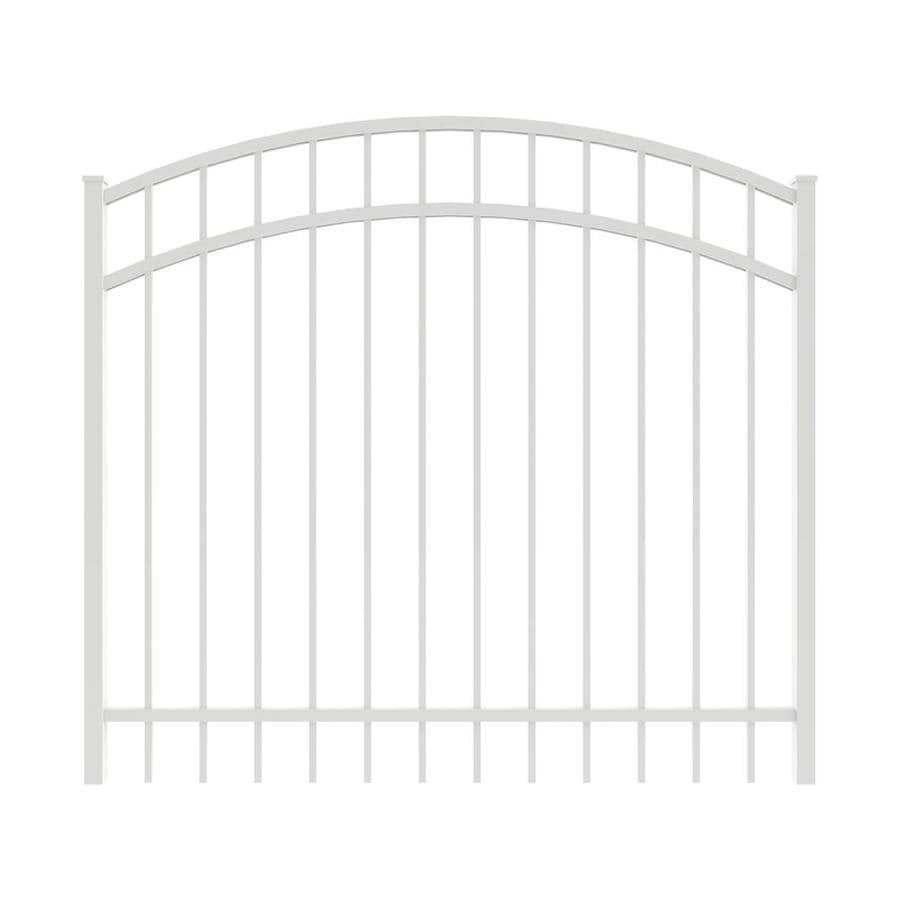 Ironcraft (Common: 4-ft x 5-ft; Actual: 4-ft x 4.92-ft) White Powder-Coated Aluminum Decorative Fence Gate