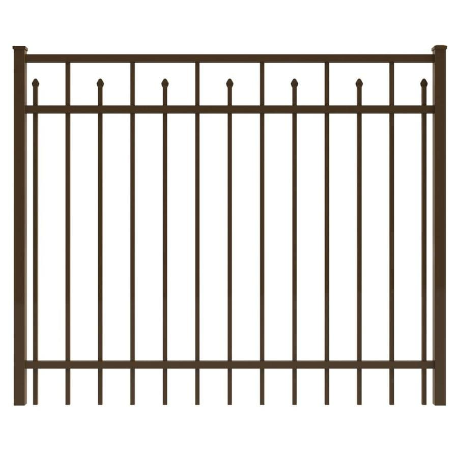 Ironcraft Bronze Powder-Coated Aluminum Decorative Fence Gate (Common: 4-ft x 6-ft; Actual: 4-ft x 5.92-ft)