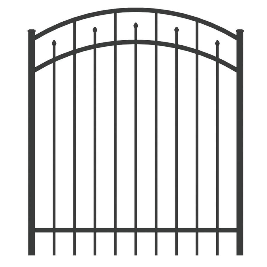 Ironcraft 4ftH x 4ftW Arched Gate with Latch, Hinges, Screws Hempsted Black