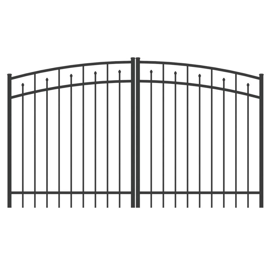 Ironcraft (Common: 4-ft x 8-ft; Actual: 4-ft x 7.83-ft) Black Powder-Coated Aluminum Decorative Fence Gate