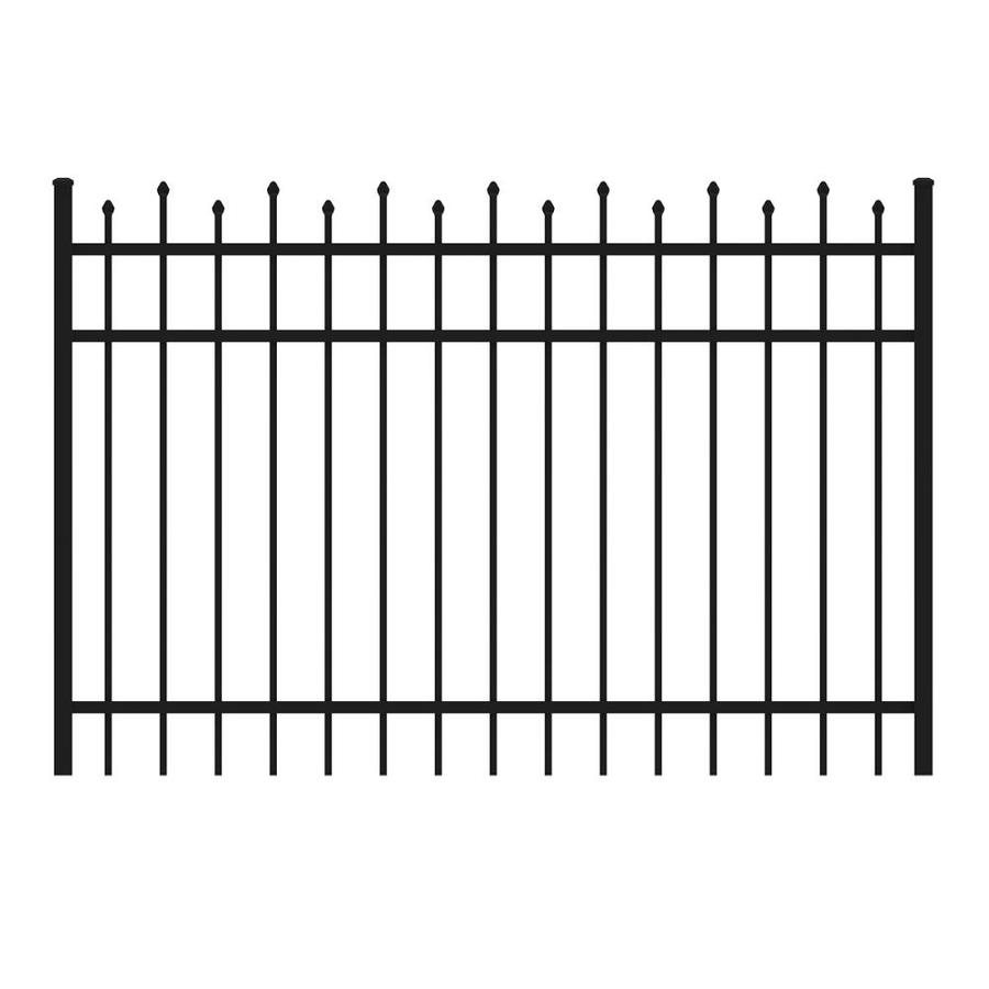 Ironcraft (Common: 4-ft x 6-ft; Actual: 4-ft x 5.92-ft) Black Powder-Coated Aluminum Decorative Fence Gate