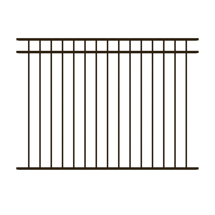 decorative metal fence panels outdoor ironcraft actual 45ft 58ft berkshire black powder shop powder