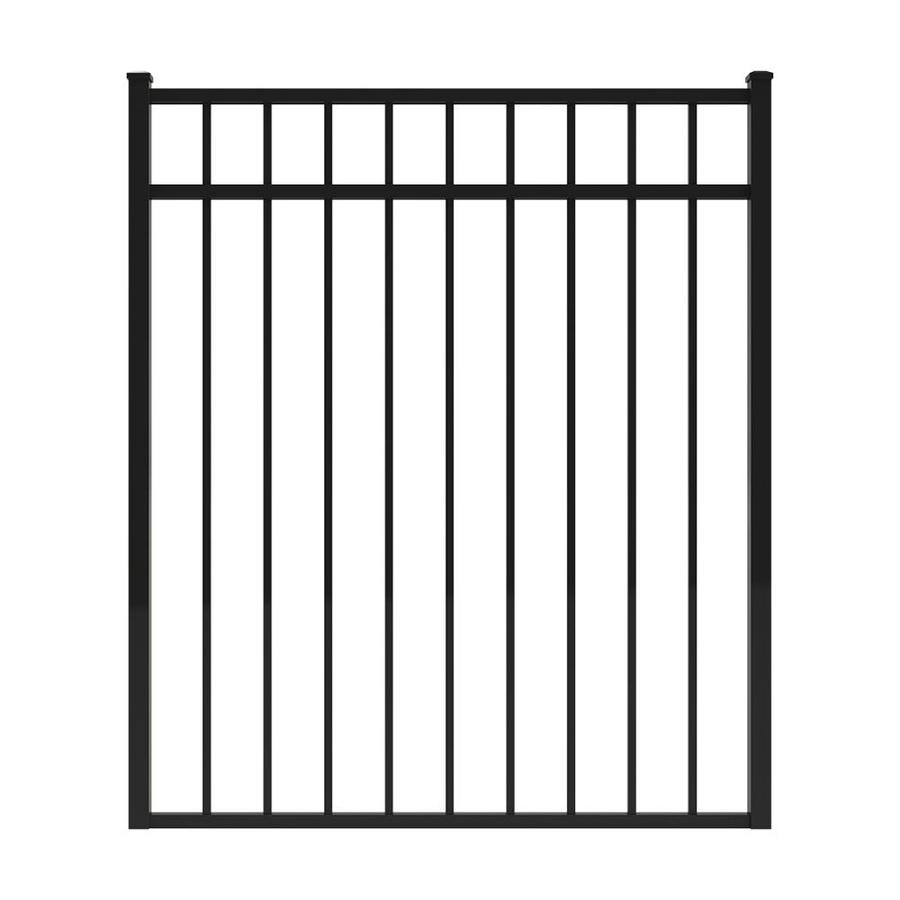 Ironcraft (Common: 4.3-ft x 4-ft; Actual: 4.3-ft x 3.67-ft) Black Powder-Coated Aluminum Decorative Fence Gate