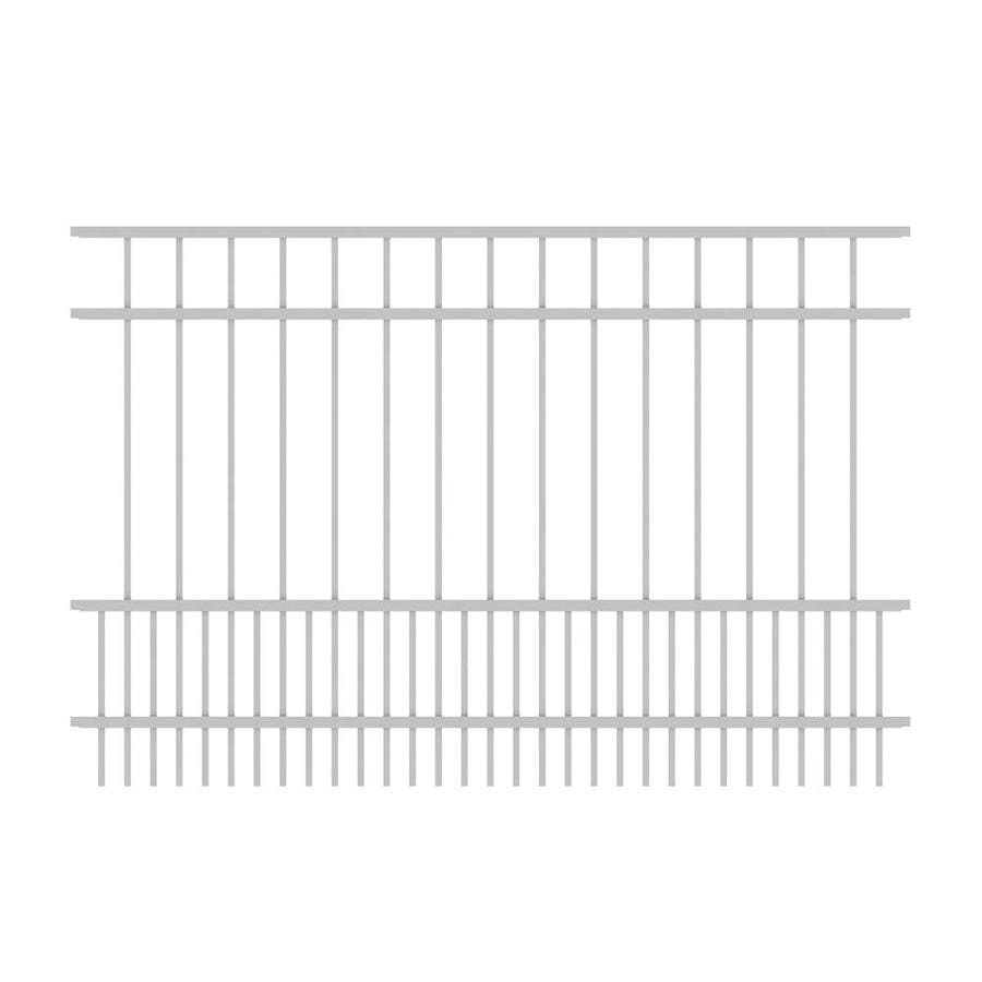 Ironcraft (Actual: 4-ft x 6-ft) Chatham White Powder-Coated Aluminum Decorative Fence Panel