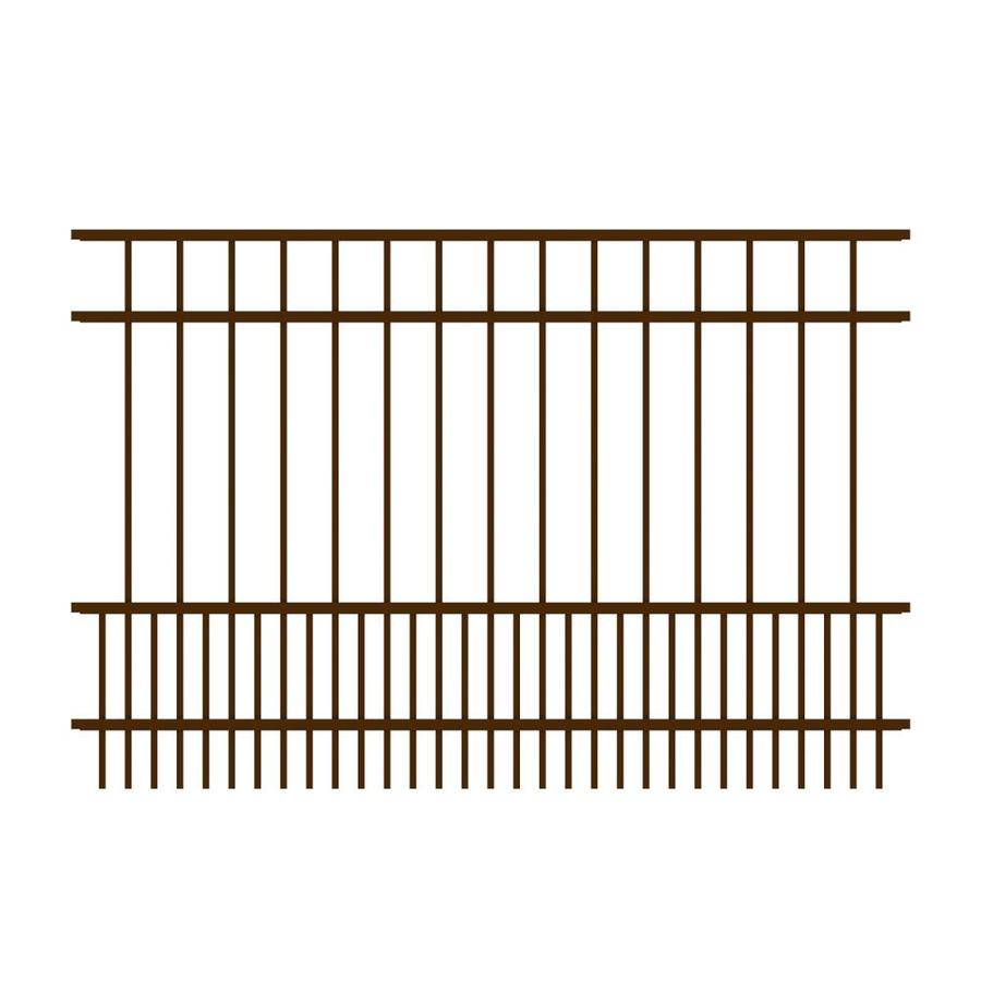 Ironcraft (Common: 4-ft x 6-ft; Actual: 4-ft x 6-ft) Chatham Bronze Powder-Coated Aluminum Decorative Fence Panel