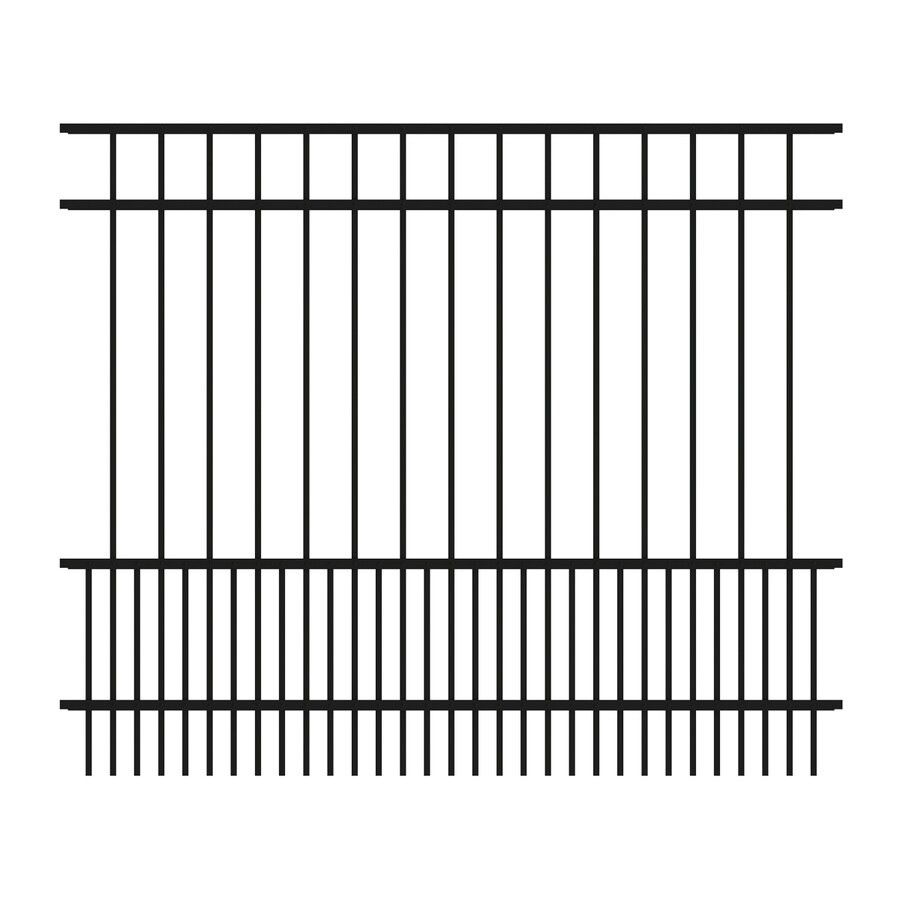 Ironcraft (Common: 5-ft x 6-ft; Actual: 5-ft x 6-ft) Chatham Black Powder-Coated Aluminum Decorative Fence Panel