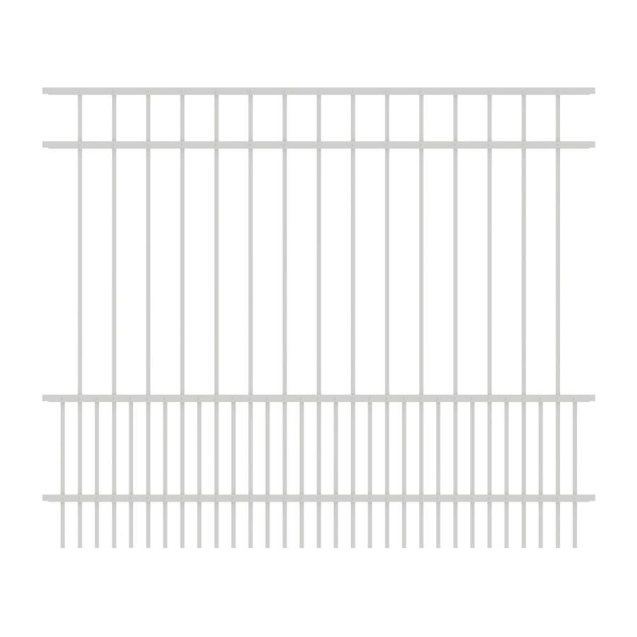 Ironcraft (Actual: 5-ft x 6-ft) Chatham White Powder-Coated Aluminum Decorative Fence Panel