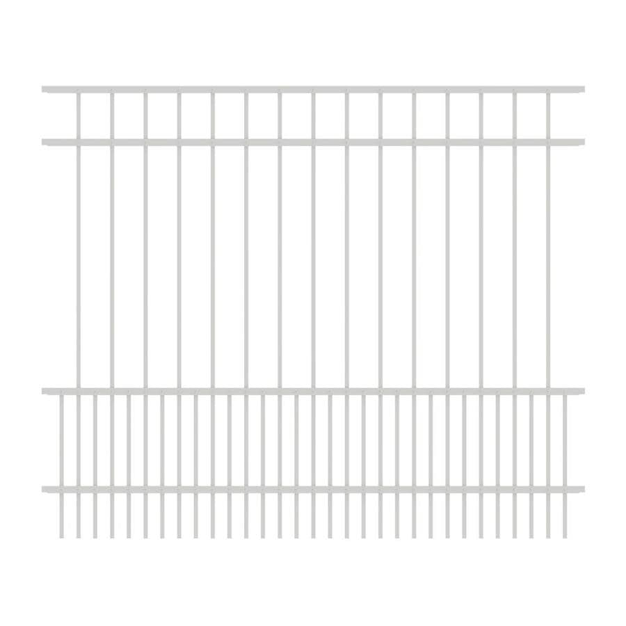 Ironcraft Chatham White Powder-Coated Aluminum Decorative Fence Panel (Common: 5-ft x 6-ft; Actual: 5-ft x 6-ft)