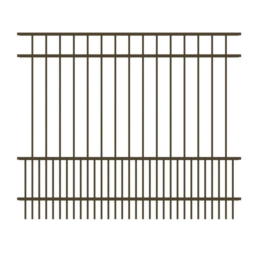 Ironcraft (Actual: 5-ft x 6-ft) Chatham Bronze Powder-Coated Aluminum Decorative Fence Panel