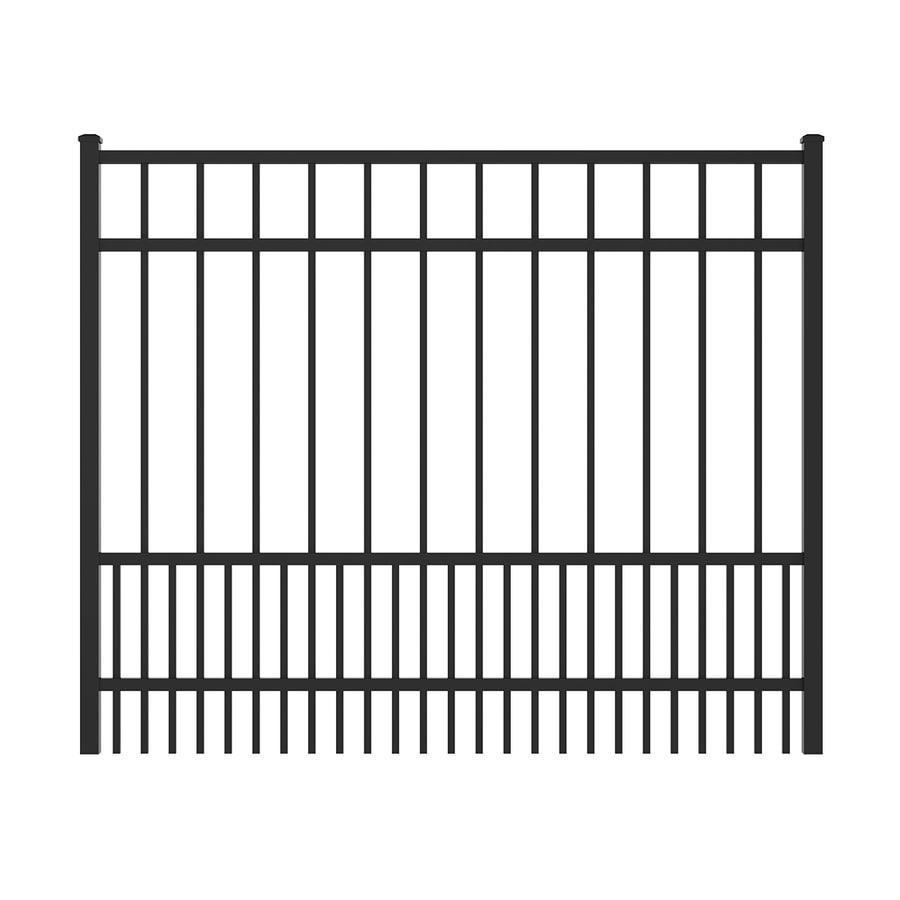 Ironcraft Black Powder-Coated Aluminum Decorative Fence Gate (Common: 4-ft x 5-ft; Actual: 4-ft x 4.92-ft)