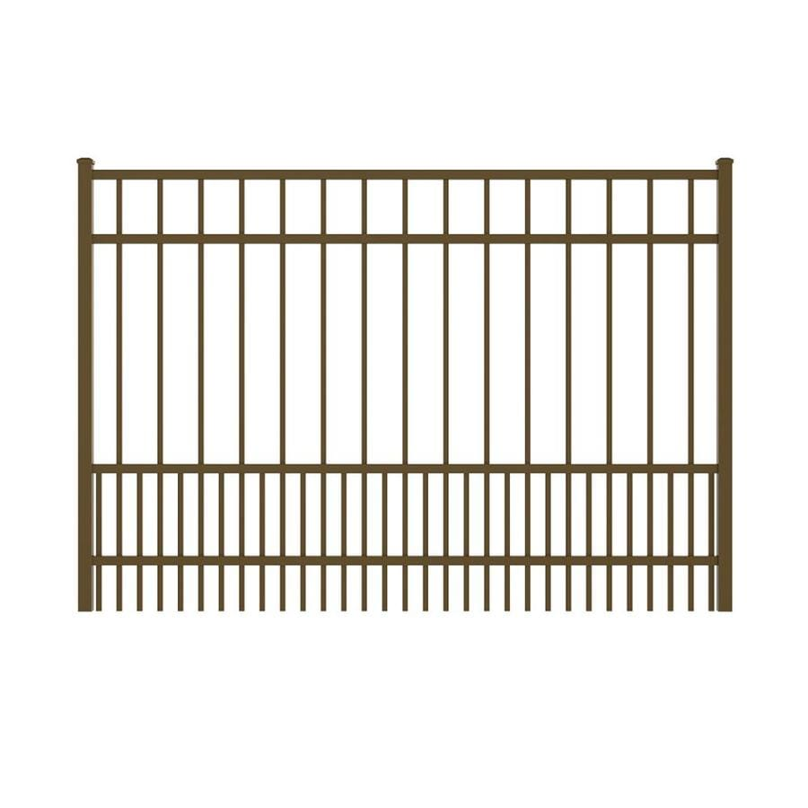 Ironcraft (Common: 4-ft x 6-ft; Actual: 4-ft x 5.92-ft) Bronze Powder-Coated Aluminum Decorative Fence Gate