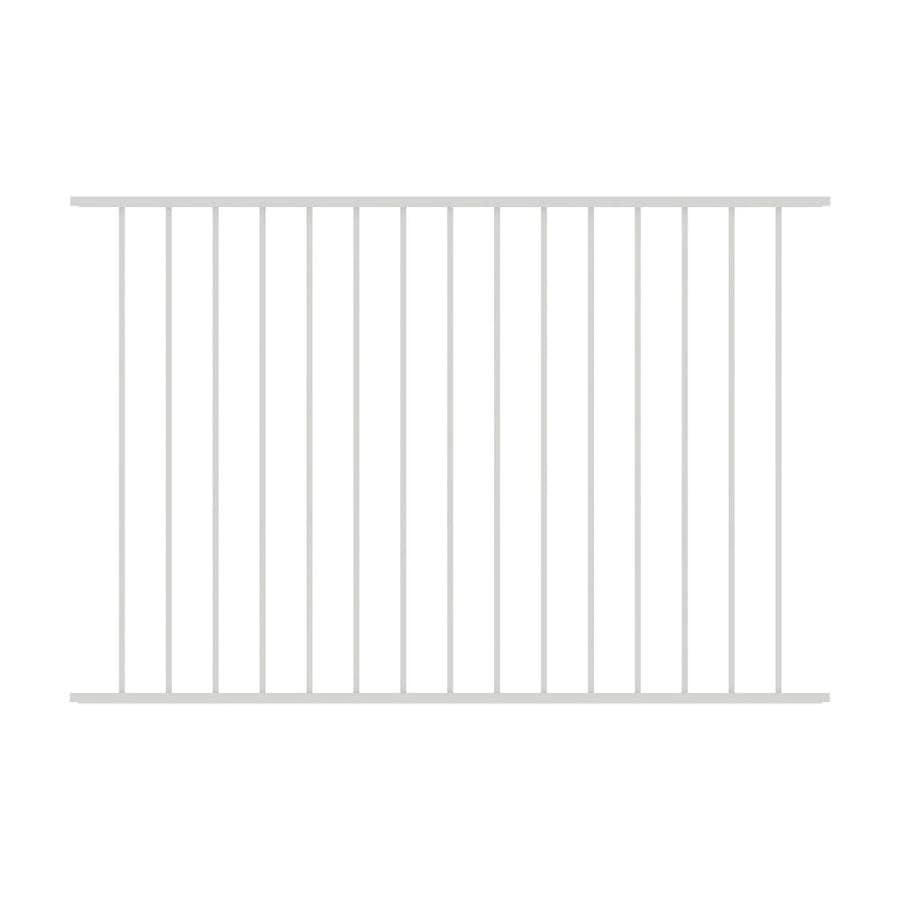 Ironcraft (Actual: 4-ft x 6-ft) Eastham White Powder-Coated Aluminum Decorative Fence Panel