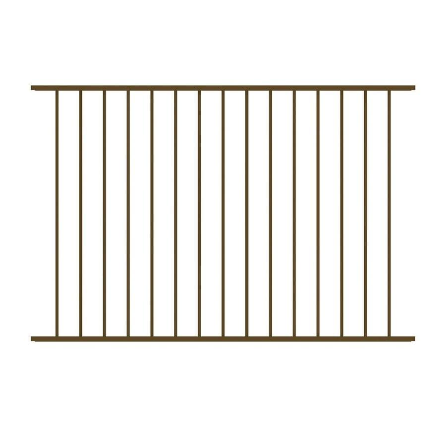 Ironcraft (Common: 4-ft x 6-ft; Actual: 4-ft x 6-ft) Eastham Bronze Powder-Coated Aluminum Decorative Fence Panel