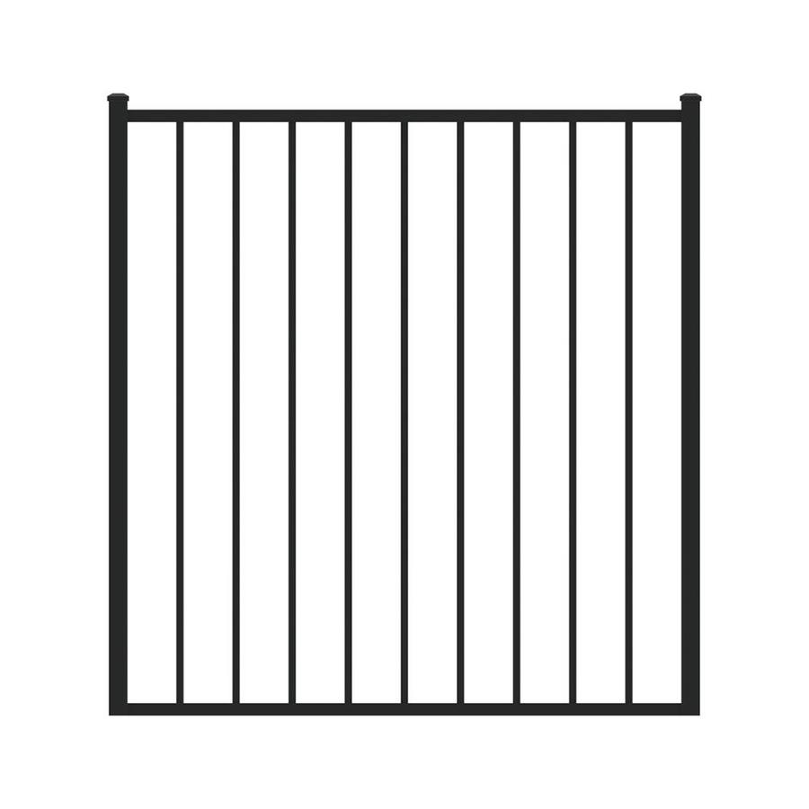 Ironcraft Black Powder-Coated Aluminum Decorative Fence Gate (Common: 4-ft x 4-ft; Actual: 4-ft x 3.92-ft)