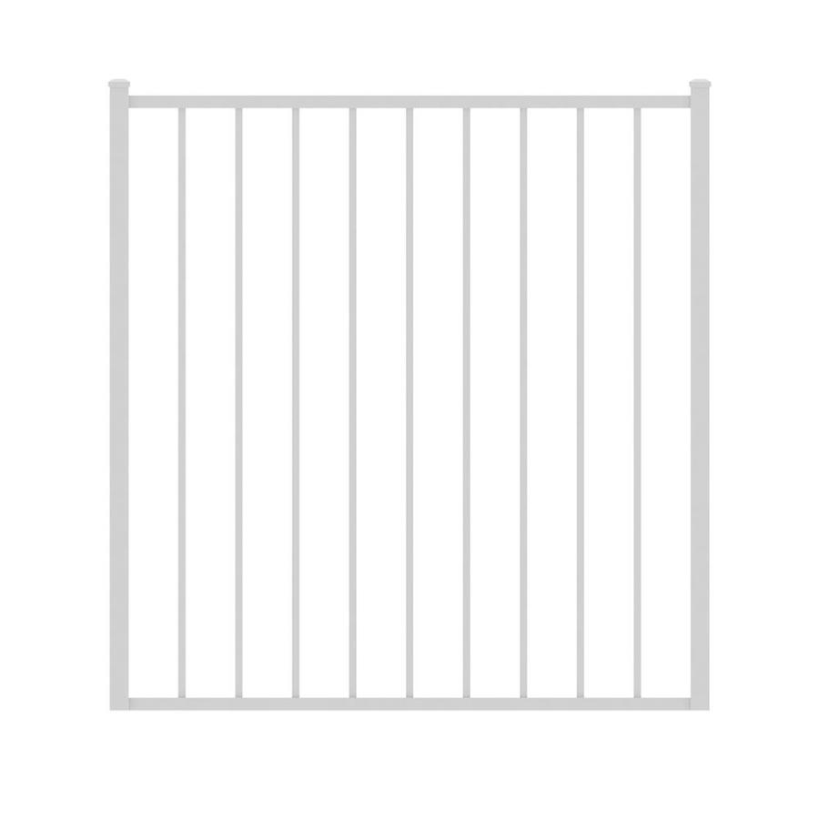 Ironcraft (Common: 4-ft x 4-ft; Actual: 4-ft x 3.92-ft) White Powder-Coated Aluminum Decorative Fence Gate