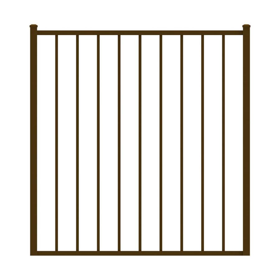 Ironcraft Bronze Powder-Coated Aluminum Decorative Fence Gate (Common: 4-ft x 4-ft; Actual: 4-ft x 3.92-ft)