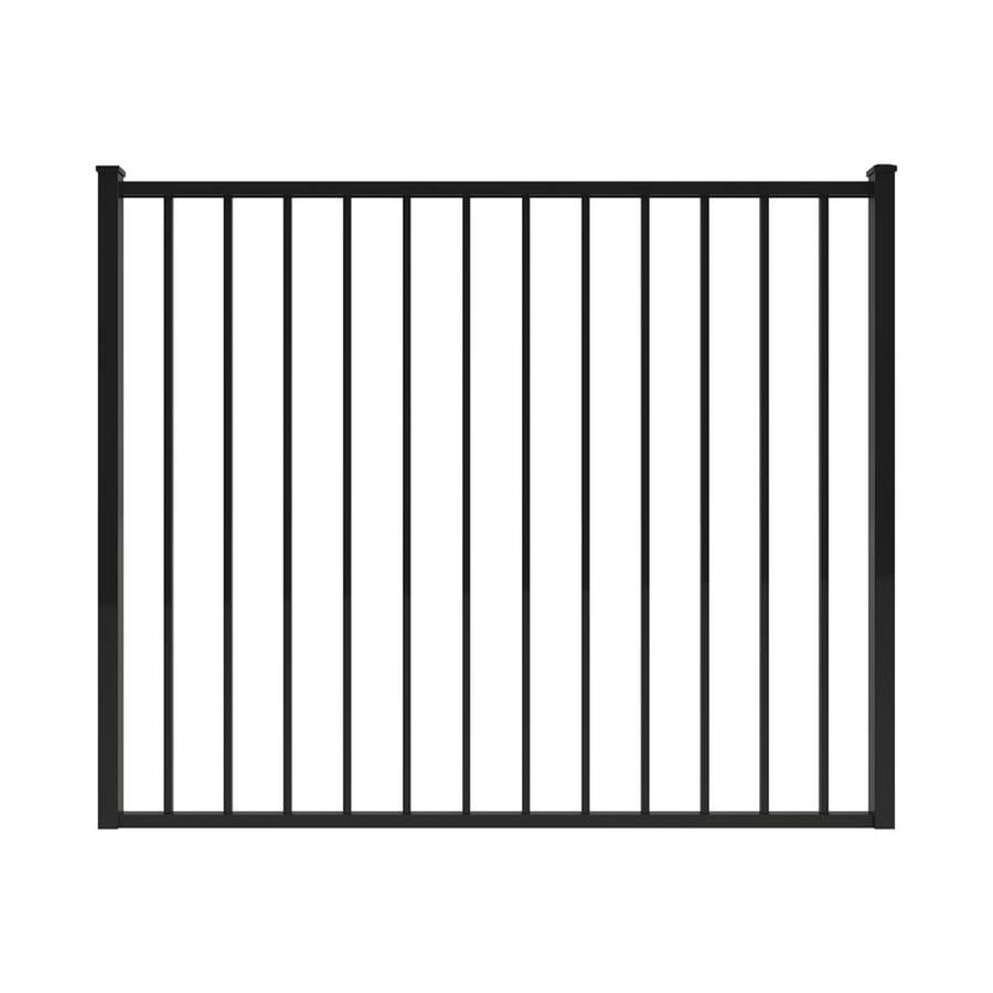 Ironcraft Black Powder-Coated Aluminum Decorative Fence Gate (Common: 4-ft x 5-ft; Actual: 4-ft x 4.92-ft)