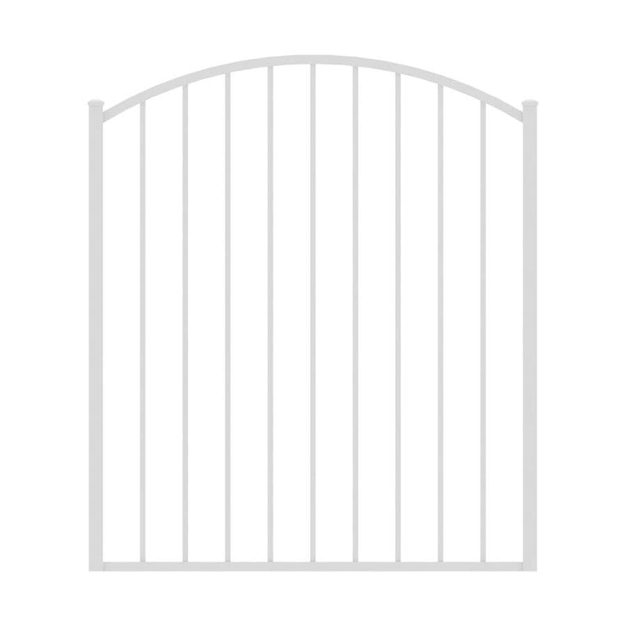 Ironcraft 4ftH x 4ftW Arched Gate with Latch, Hinges, Screws Eastham White