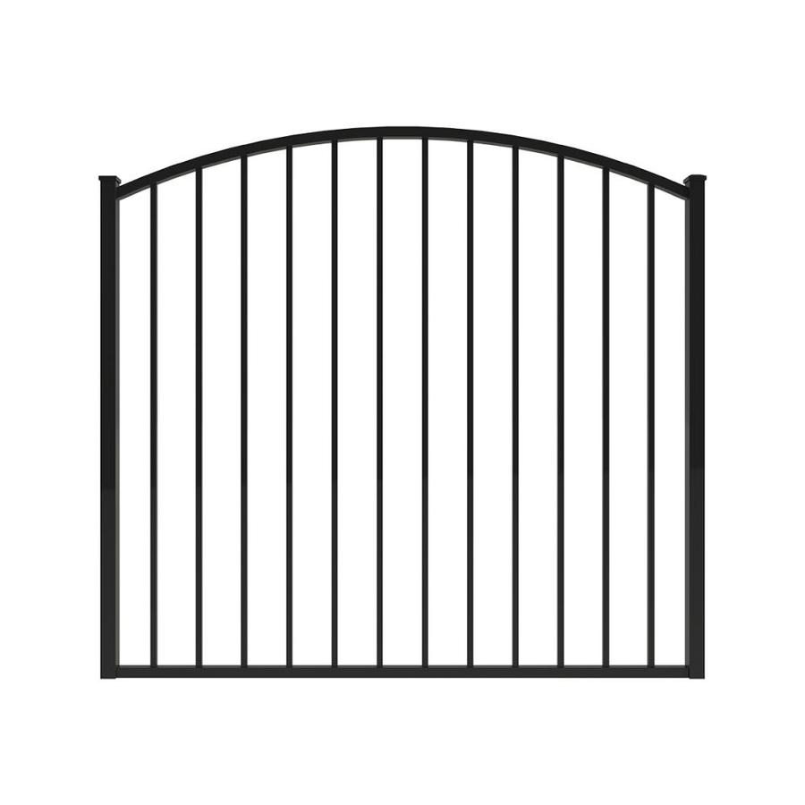 Ironcraft (Common: 4-ft x 5-ft; Actual: 4-ft x 4.92-ft) Black Powder-Coated Aluminum Decorative Fence Gate