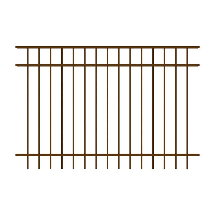 Ironcraft (Common: 4-ft x 6-ft; Actual: 4-ft x 6-ft) Berkshire Bronze Powder-Coated Aluminum Decorative Fence Panel