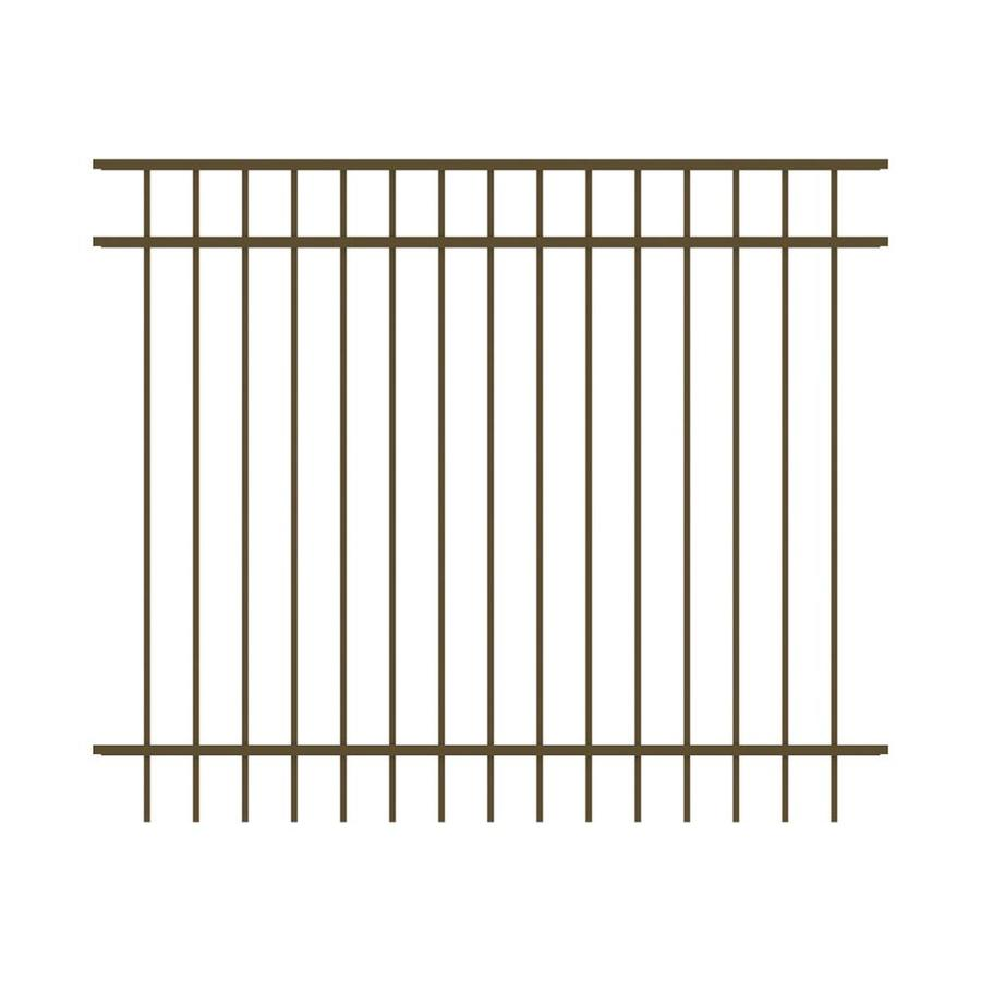 Ironcraft (Actual: 5-ft x 6-ft) Berkshire Bronze Powder-Coated Aluminum Decorative Fence Panel