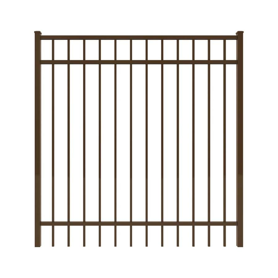 Ironcraft (Common: 5-ft x 5-ft; Actual: 5-ft x 4.92-ft) Bronze Powder-Coated Aluminum Decorative Fence Gate