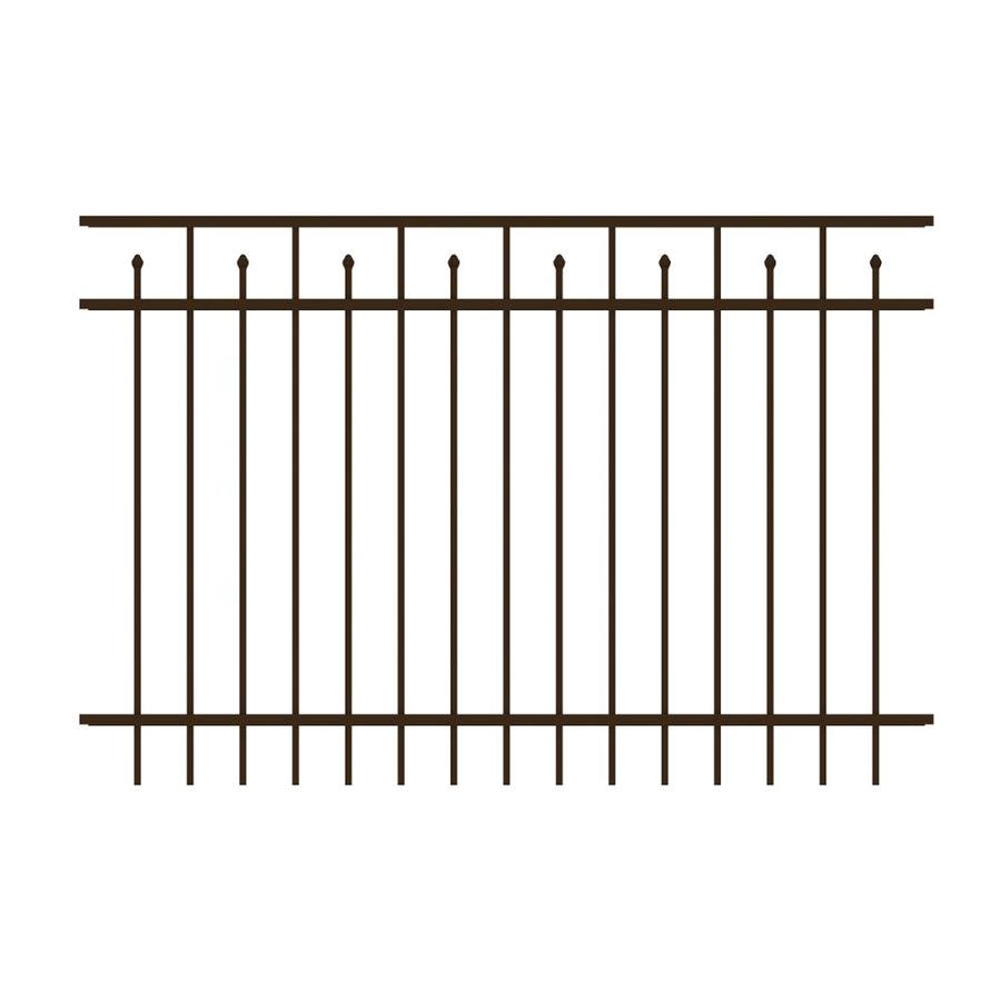 Ironcraft (Actual: 4-ft x 6-ft) Hempsted Bronze Powder-Coated Aluminum Decorative Fence Panel