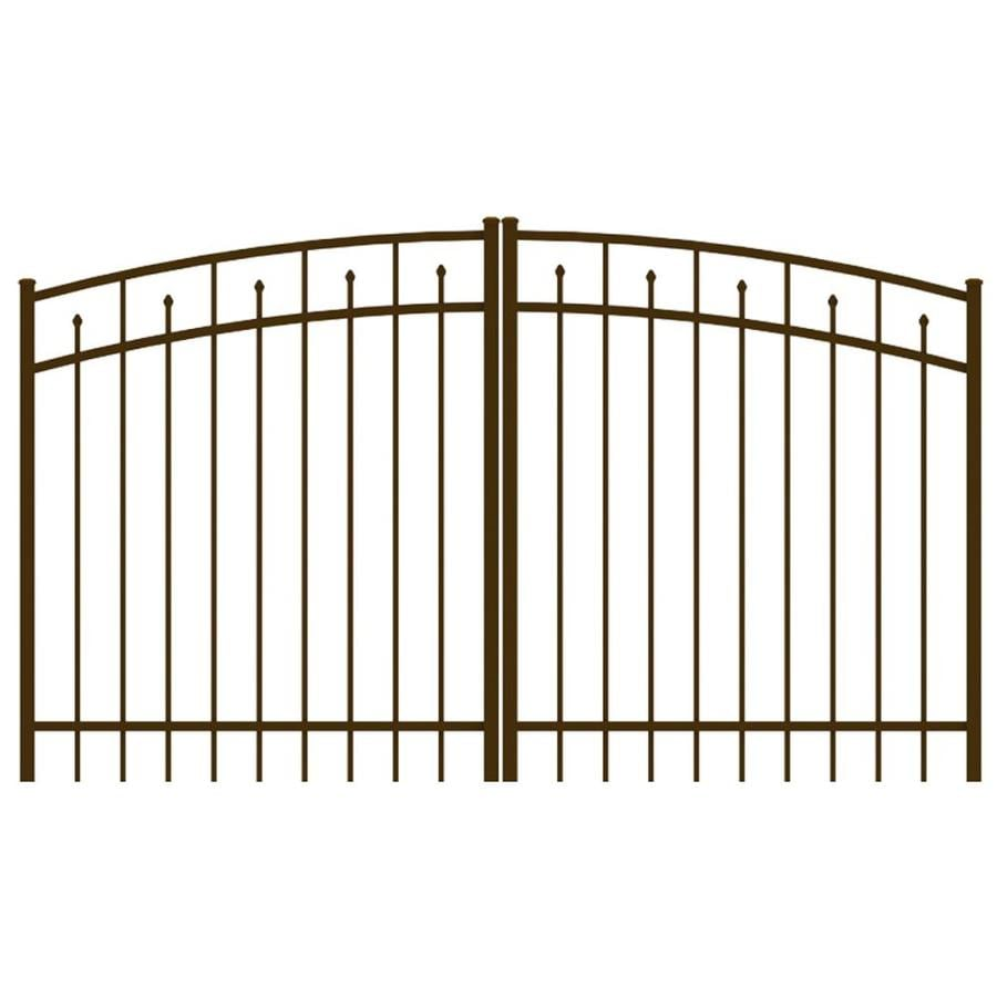 Ironcraft (Common: 4-ft x 8-ft; Actual: 4-ft x 7.83-ft) Bronze Powder-Coated Aluminum Decorative Fence Gate