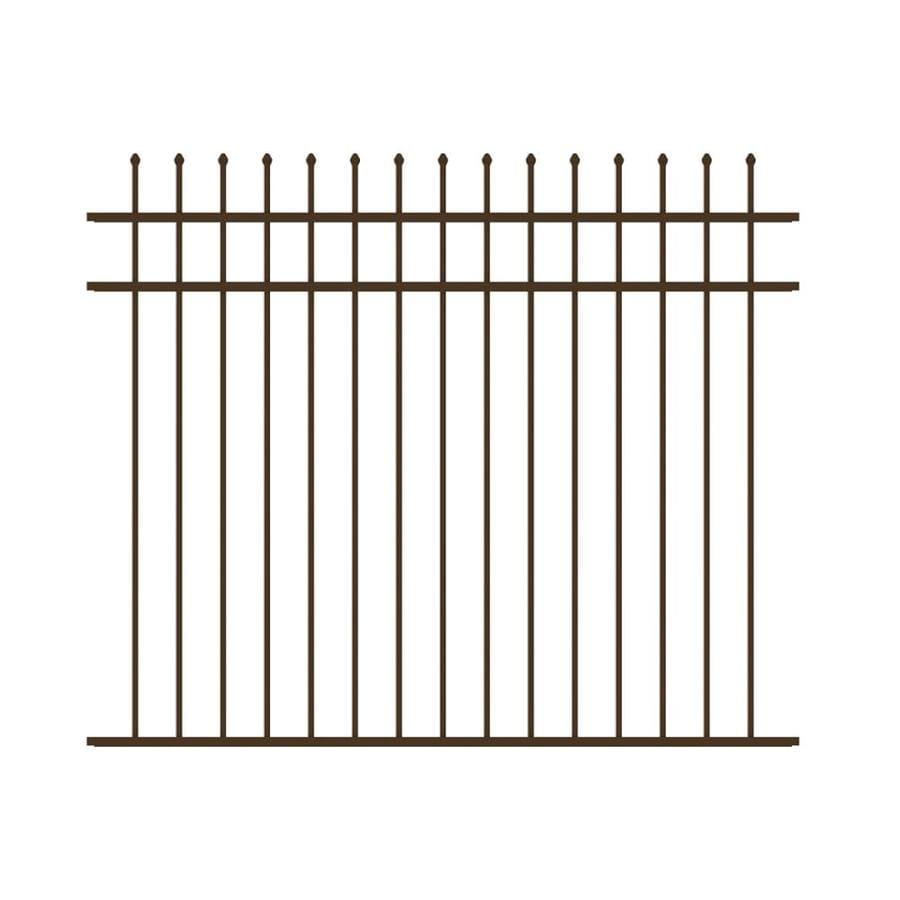 Ironcraft Orleans Bronze Powder-Coated Aluminum Decorative Fence Panel (Common: 5-ft x 6-ft; Actual: 5-ft x 6-ft)