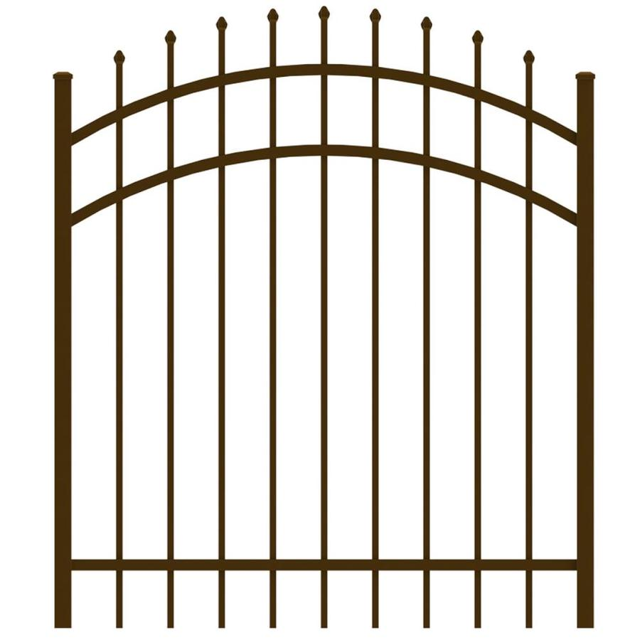 Ironcraft (Common: 4-ft x 4-ft; Actual: 4-ft x 3.92-ft) Bronze Powder-Coated Aluminum Decorative Fence Gate