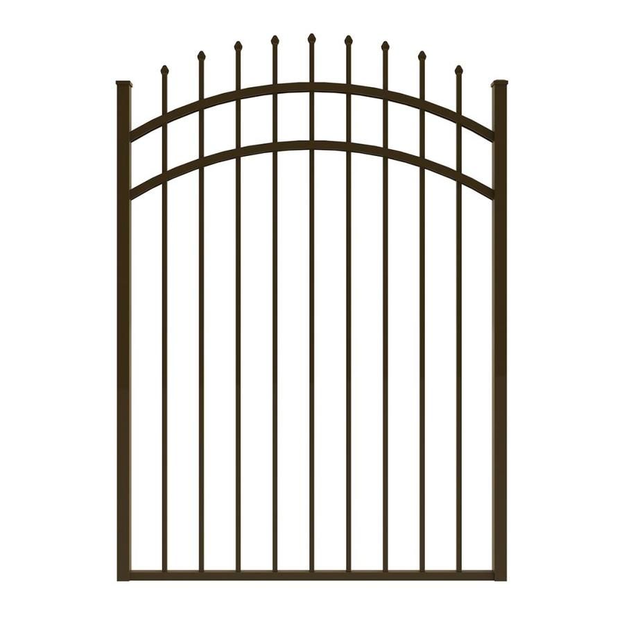 Ironcraft (Common: 5-ft x 4-ft; Actual: 5-ft x 3.92-ft) Bronze Powder-Coated Aluminum Decorative Fence Gate