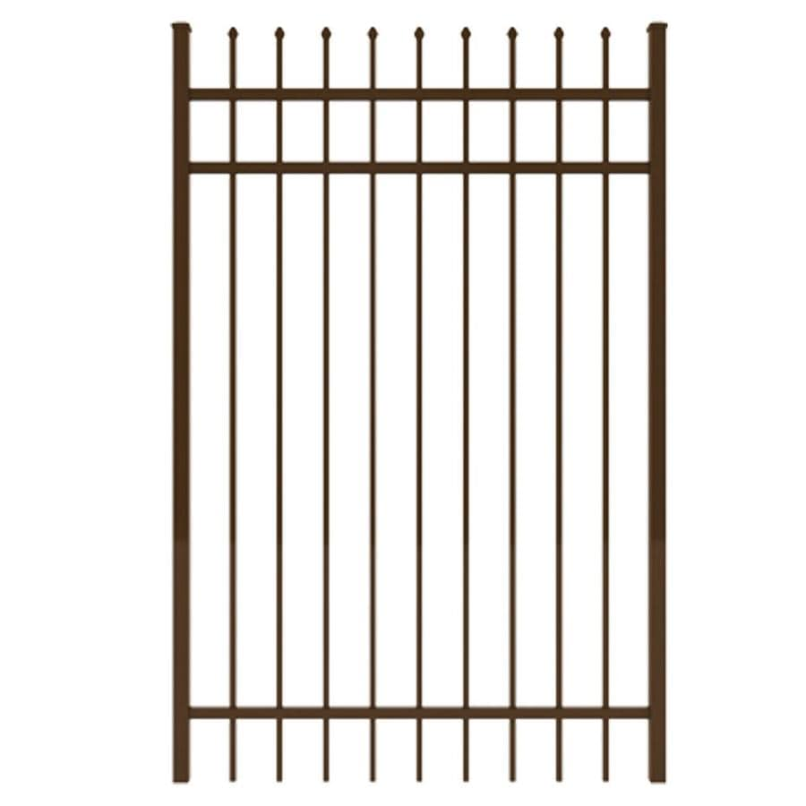 Ironcraft (Common: 6-ft x 4-ft; Actual: 6-ft x 3.92-ft) Bronze Powder-Coated Aluminum Decorative Fence Gate