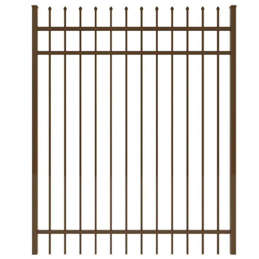 Ironcraft (Common: 6-ft x 5-ft; Actual: 6-ft x 4.92-ft) Bronze Powder-Coated Aluminum Decorative Fence Gate