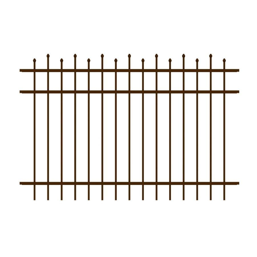 Ironcraft Truro Bronze Powder-Coated Aluminum Decorative Fence Panel (Common: 4-ft x 6-ft; Actual: 4-ft x 6-ft)