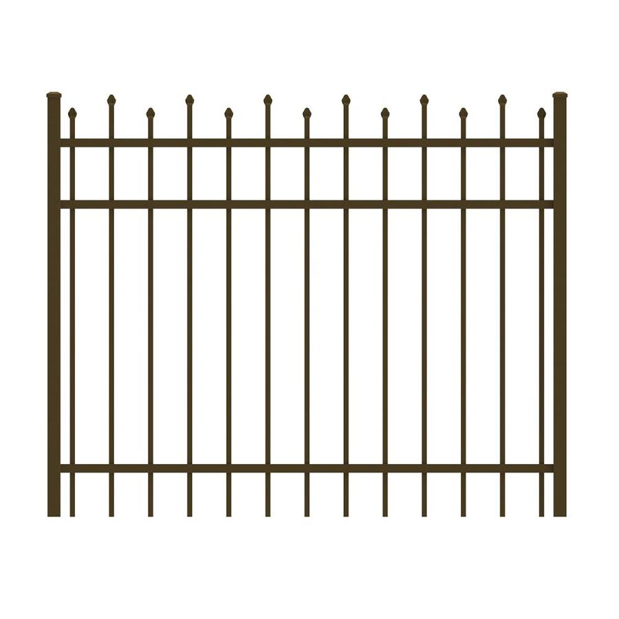 Ironcraft (Common: 4-ft x 5-ft; Actual: 4-ft x 4.92-ft) Bronze Powder-Coated Aluminum Decorative Fence Gate