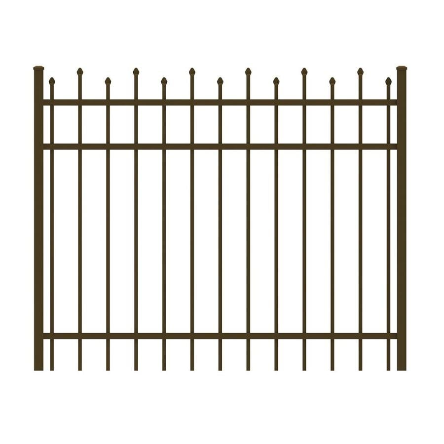Ironcraft Bronze Powder-Coated Aluminum Decorative Fence Gate (Common: 4-ft x 5-ft; Actual: 4-ft x 4.92-ft)
