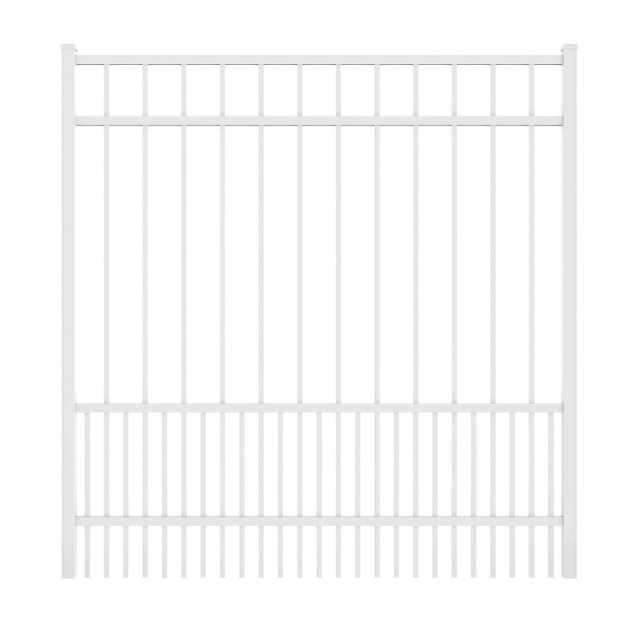 Ironcraft (Common: 5-ft x 6-ft; Actual: 5.08-ft x 5.92-ft) White Powder Coated Aluminum Decorative Fence Gate
