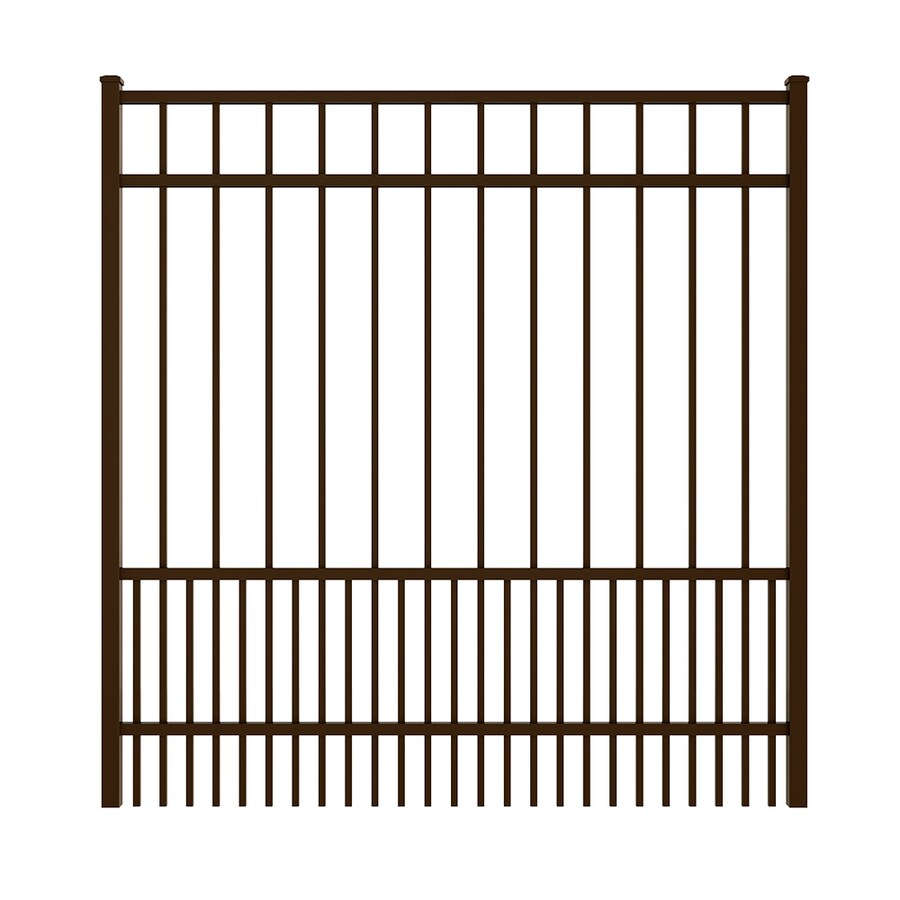 Ironcraft (Common: 5-ft x 5-ft; Actual: 5.08-ft x 4.92-ft) Bronze Powder Coated Aluminum Decorative Fence Gate
