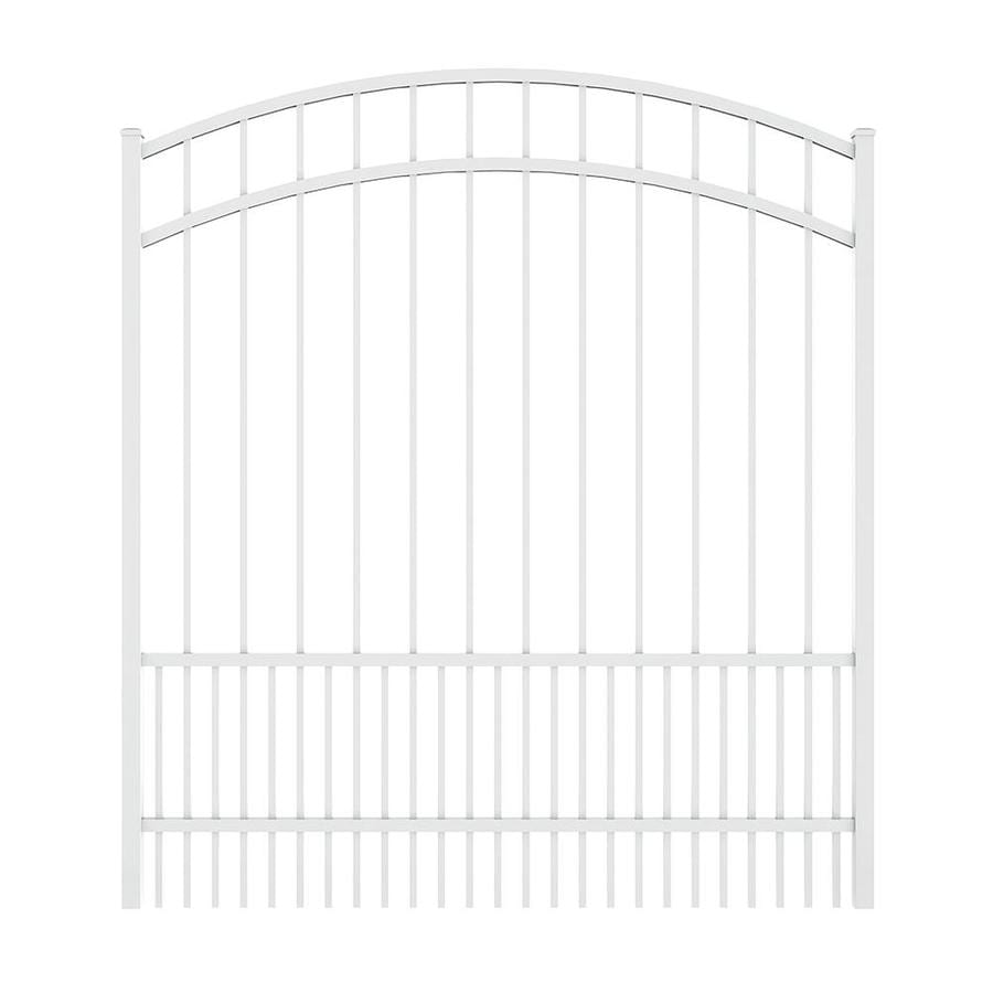 Ironcraft (Common: 5-ft x 5-ft; Actual: 5.5-ft x 4.92-ft) White Powder Coated Aluminum Decorative Fence Gate